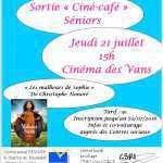 affiche sortié ciné séniors du 21-07-2016