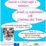 affiche sortié ciné séniors du 15-09-2016